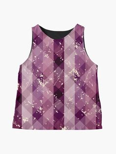 Pretty Cute and Fun Glimpse of Trees Plaid Rays of Light Girly Print Sleeveless Top Stripes Fashion, Pink Fashion, Fashion Dresses, Blouses For Women, Women's Blouses, Pastel Shirt, Retro Shirts, Pink Outfits, Pink Leggings