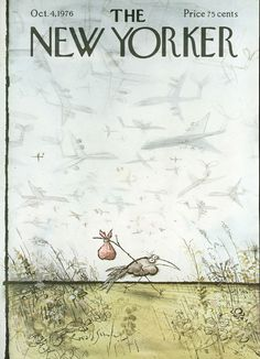 The New Yorker - Monday, October 1976 - Issue # 2694 - Vol. 52 - N° 33 - Cover by Gretchen Dow Simpson The New Yorker, New Yorker Covers, Cartoon Drawings, Cartoon Art, Magazine Art, Magazine Covers, Ronald Searle, Transformers Art, Arte Popular