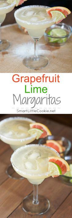 Grapefruit Lime Margaritas | SmartLittleCookie.net