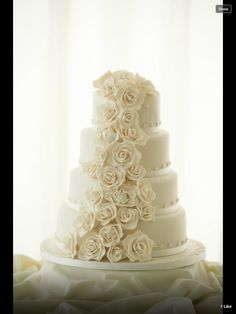 Rose & Peony Wedding Cake