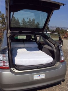 My own Prius with a very comfy twin-sized bed!