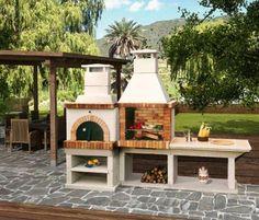 Asador de ladrillo patio pinterest patios - Chimeneas rusticas de ladrillo ...