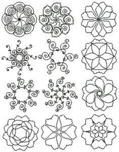 Advanced Embroidery Designs - Mandala Quilting Pattern Set