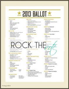 Rock The Vote #Oscar #party