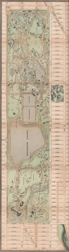 Central Park 1868 Map