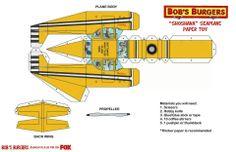 Bob's Burgers / sea plane paper toy (part 1)