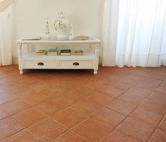 Pavimento in cotto finitura Ars Vetus trattato testa di moro /Terracotta Handmade Flooring....