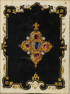 """The Jewel Book"" by Hans Mielich -  The paper and parchment manuscript displays…"