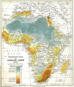 Map showing the comparative desirability of African land, 1891 [1423 x 1680px]