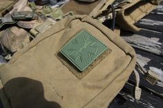 MEDIC Subdued Green PVC Velcro Patch mounted