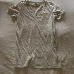 Victoria Secret v neck Used, grey speckled and white v neck Victoria's Secret Tops Tees - Short Sleeve