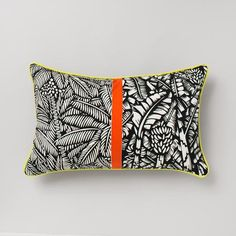 Bondi 35 x 55<br>Midnight Black / Orange / Green by Happy and Co