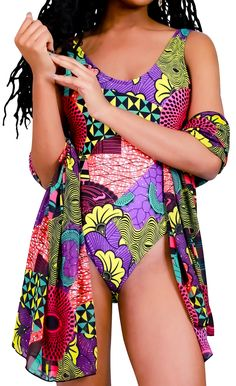 Looking for the best African print swimsuits? Read this post first! These are the top 10 ankara swimwear for your next pool party or beach vacation. African Clothing For Sale, Modern African Clothing, Traditional African Clothing, African Dresses For Women, African Print Fashion, Fashion Prints, Lazy Day Outfits, Ghanaian Fashion, Women's One Piece Swimsuits
