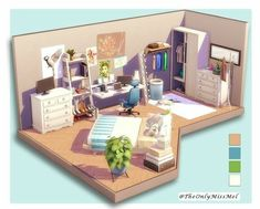 The sims 4 Sims 4 House Plans, Sims 4 House Building, Sims 4 Loft, Sims 3, Muebles Sims 4 Cc, Sims 4 Bedroom, Sims 4 House Design, Casas The Sims 4, Play Sims
