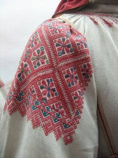 Russian traditional embroidery. Blouse sleeve.
