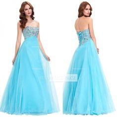 Dámské nebesky modré plesové šaty od značky Grace K. 2576-076 (14)