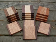 Solid wood coasters made by Robert Johnson if you would like more info on my work drop me a note