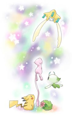 Granting good wishes to all boys, girls, and Pokemon. Pokemon Mew, Pikachu Pikachu, Pokemon Fan Art, Pokemon Stuff, Random Pokemon, Pokemon Images, Pokemon Pictures, Powerful Pokemon, Mythical Pokemon