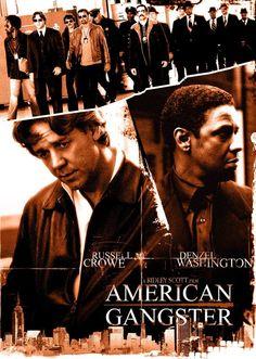 American Gangster (2007) de Ridley Scott (http://ultracuerpos.com/fichas/american-gangster-2007-ridley-scott/) #pelicula #poster