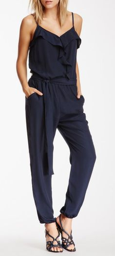 Collective Concepts Ruffle Crossover Jumpsuit