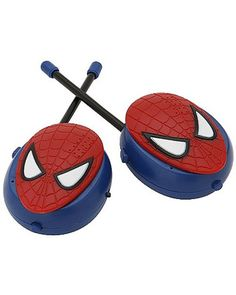 True, your kid probably can't shoot webs, but with these #Spiderman walkie talkies, she can send messages to pals who are far away! Click above to buy the set of 2.
