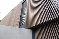 modern dormer and timber insert cladding Timber Battens, Roof Extension, Strip, Cladding, Car Parking, Facade, Blinds, Skyscraper, Concrete
