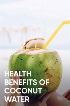"""There are all kinds of enhanced waters these days, but coconut water was the OG """"healthy water. Do the nutrition facts back up the hype? Here's what you need to know. #coconutwater #hydration Healthy Water, Healthy Drinks, Healthy Eating, Coconut Water Benefits, Tasty, Yummy Food, Good Foods To Eat, Workout Plans, Easy Healthy Recipes"""