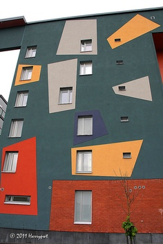 Colorful wall, Helsinki
