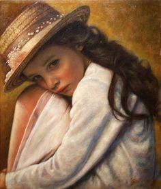 Children's portraits by Greek artist Odysseas Oikonomou Feminine Mystique, Painting People, Greek Art, Traditional Paintings, Community Art, Beautiful Paintings, Classic Paintings, Beautiful Children, Figurative Art