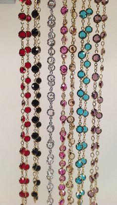 A classic in the Lorren Bell Collection... Swarovski crystal channel set necklaces.