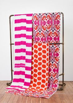 Madeline Weinrib Ikat Fabric (colors/pattern mixing)