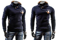 BOLF 3402 - GRANATOWY Granatowy   On \ Bluzy męskie \ Bluzy z kapturem   Denley - Odzieżowy Sklep internetowy   Odzież   Ubrania   Płaszcze   Kurtki