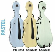 """Gewa - Idea Evolution Rolly Cello Case - Pastel Series by Gewa. $1395.00. Gewa Cello Cases are a known leader in the industry with a history of durability, attractiveness and high-tech quality features. These Fiberglass reinforced synthetic resin shell cases feature Gewa """"Secure-S"""" suspension system, SPS-Side Protection System. 4 Gewa special locks, quality latches, elegant matte black fittings. Exceptional shock-absorbing properties. Velour padded interior. Wide backpack straps...."""