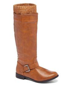 Chatties Cognac Cuffed Riding Boot by Chatties #zulily #zulilyfinds