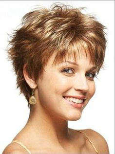 Image result for Fine Hairstyle Short Hair Cuts For Women Over 50 Short Sassy Haircuts, Haircuts For Fine Hair, Pixie Haircuts, Thin Curly Hair, Chic Short Hair, Very Short Hair, Short Hair Styles, Short Hair With Layers, Hairstyle Short