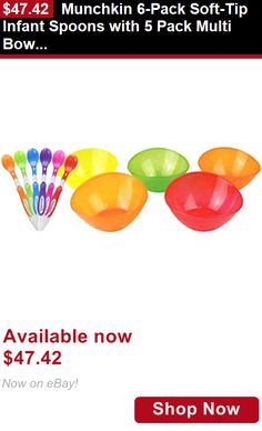 Baby Utensils: Munchkin 6-Pack Soft-Tip Infant Spoons With 5 Pack Multi Bowl Set BUY IT NOW ONLY: $47.42
