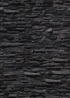 Black Painted Stone Wall Stonewall Muro Di Pietra Dipinto Nero