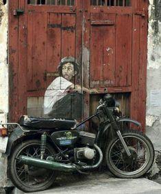 Street Art by Ernest Zacharevic   Cuded