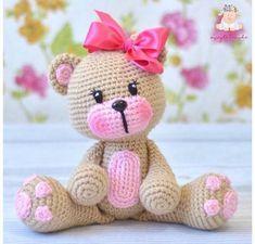 Mesmerizing Crochet an Amigurumi Rabbit Ideas. Lovely Crochet an Amigurumi Rabbit Ideas. Crochet Animal Amigurumi, Crochet Teddy, Crochet Animal Patterns, Crochet Bear, Crochet Doll Pattern, Stuffed Animal Patterns, Cute Crochet, Amigurumi Doll, Crochet Animals