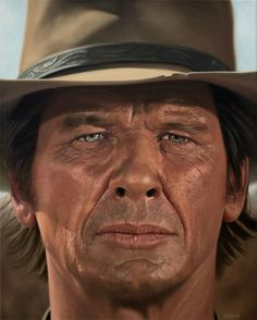 "I painted Charles Bronson from Once Upon a Time in the West in oils (16""x20""), I hope you enjoy. - Imgur"