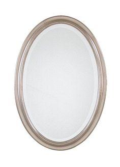 Uttermost 08646 B Petite Manhattan Oval Beveled Mirror Champagne Silver Home Decor Mirrors Lighting