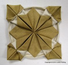"""Fennel"" • Fabric Origami Step-by-Step. This would be a lovely Christmas ornament if made in the right colours."