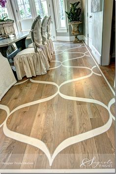 painted wood floors, I LOVE this, such a fun way to dress up wood floors and spice up a space!