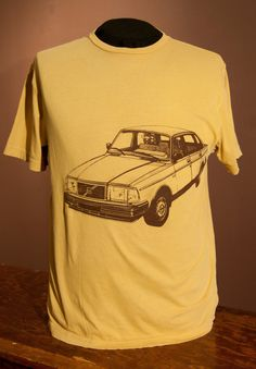 Volvo 240 Tee Gold. $18.00, via Etsy.