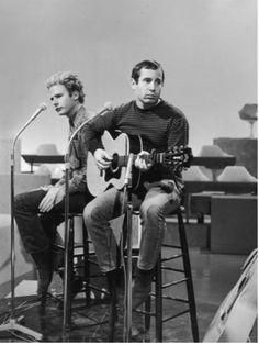 Paul simon and art garfunkel - beautiful photograph of the two...<3