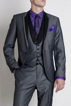 2017 Custom Made Tuxedos Slim Fit  Wedding Groomsmen Groom Suits Jacket Pants Vest Bow Tie