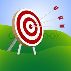 Red and White Target with Arrows | Red and white target with arrows | Vector | Colourbox