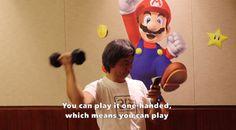 Watch Marios creator play Super Mario Run while doing bicep curls Play Super Mario, Shigeru Miyamoto, Star Fox, Donkey Kong, Mario Bros, Biceps, The Creator, Curls, Android