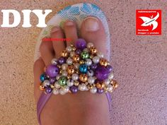 DIY.Decorar sandalias playeras de lujo..сандали, мастер-класс