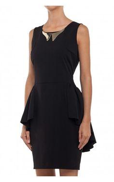 Sukienka z baskinką czarna